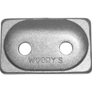 Woody's Angled Double Digger Aluminum Backing Plates12 pack