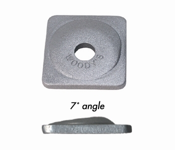 Woody's Angled  Aluminum Backing Plates24 pack