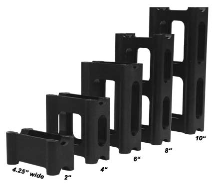 PowerMadd Pivot Style Riser Blocks (Eight Inch)