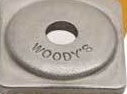 Woody's Square Backer Plates 24 PACK Aluminum