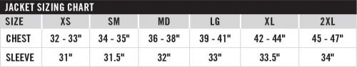 arctiva wmn size chart